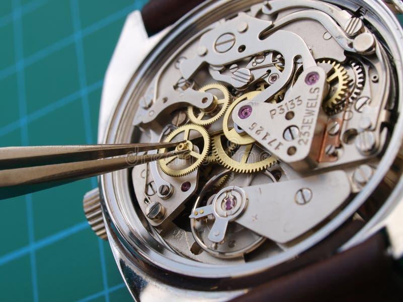 Naprawiać rocznika zegarek fotografia stock