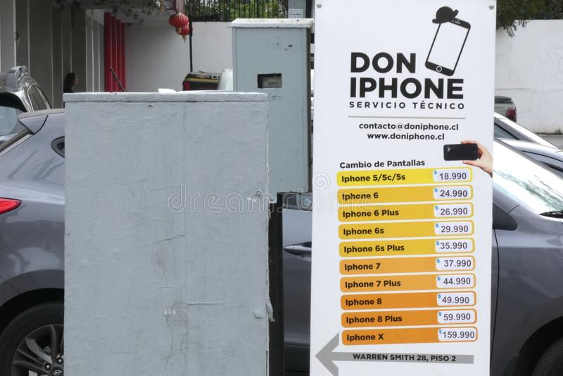 Naprawy protokołu IPhone obraz royalty free