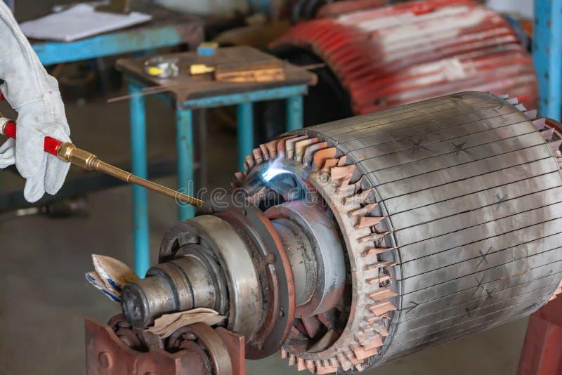 Naprawy silnika elektrycznego fotografia royalty free