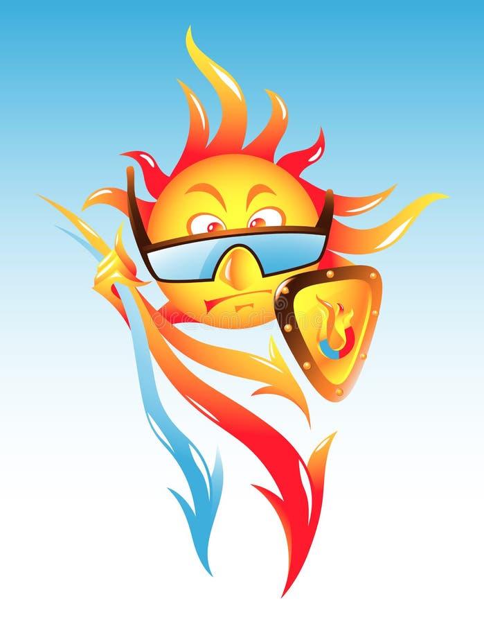 napromieniania szturmowy magnesowy słońce ilustracja wektor
