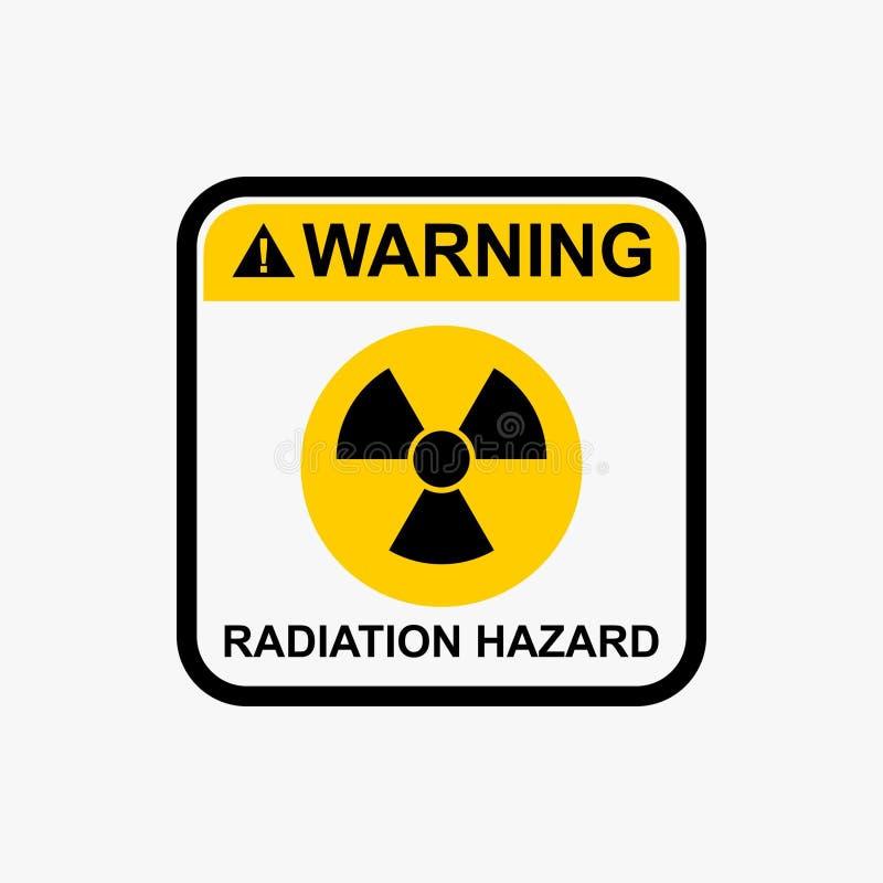 Napromieniania zagrożenia ikony jądrowego znaka ostrzegawczego wektorowy projekt ilustracji