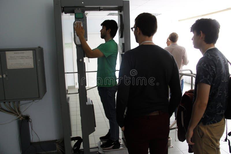 Napromienianie czeka Pointstour chernpbyl napromieniania punkty kontrolni fotografia stock