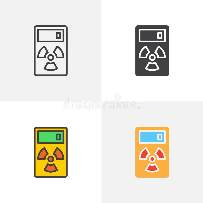 Napromienianie pomiaru przyrządu ikona ilustracji