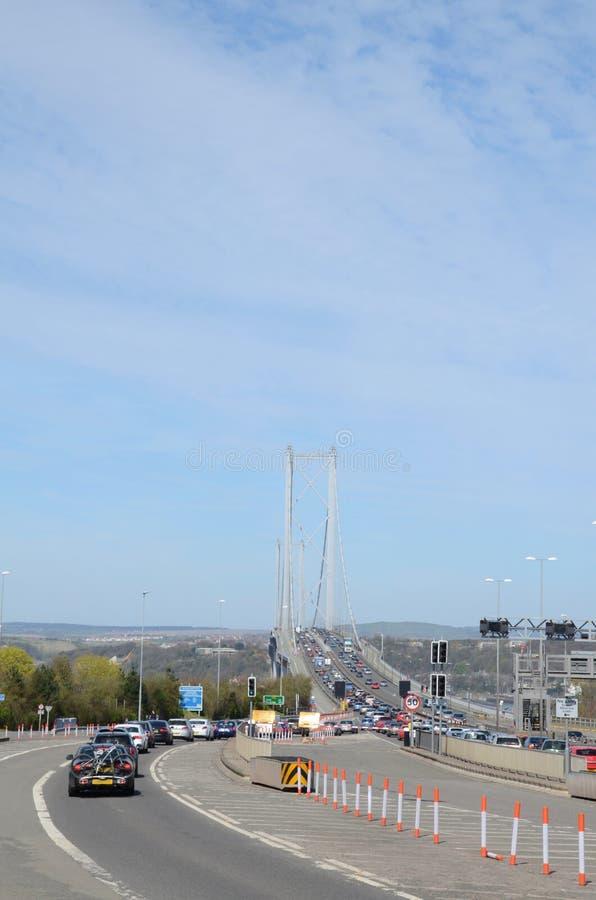 Naprzód droga most, Queensferry obrazy royalty free