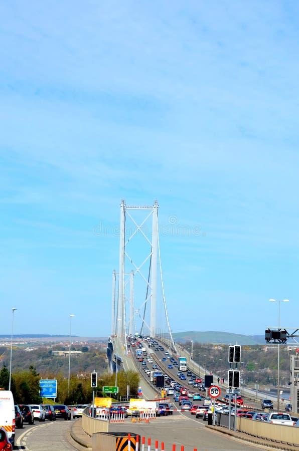 Naprzód droga most, Queensferry zdjęcia royalty free