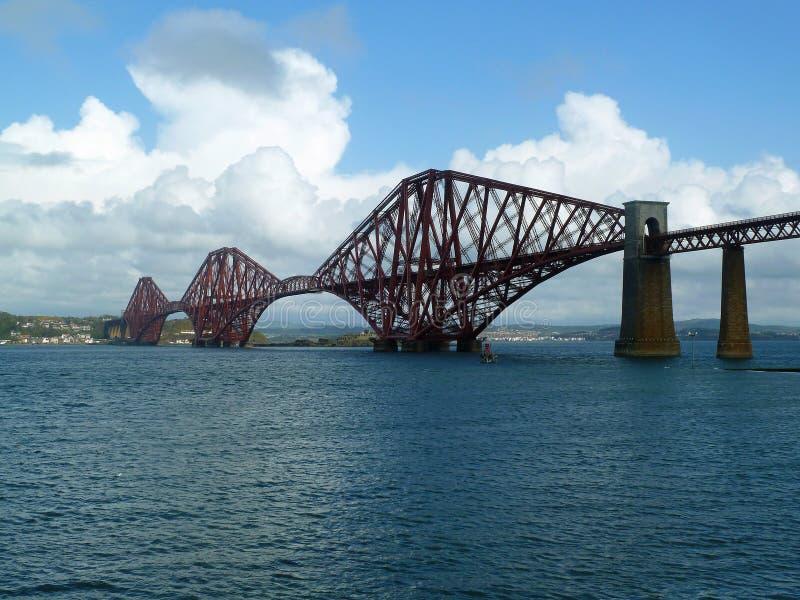 Naprzód Kolejowy most, Firth Naprzód, Szkocja fotografia royalty free