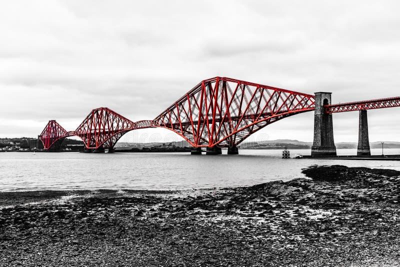 Naprzód Sztachetowy most nad Firth ujście w Szkocja Naprzód obrazy stock
