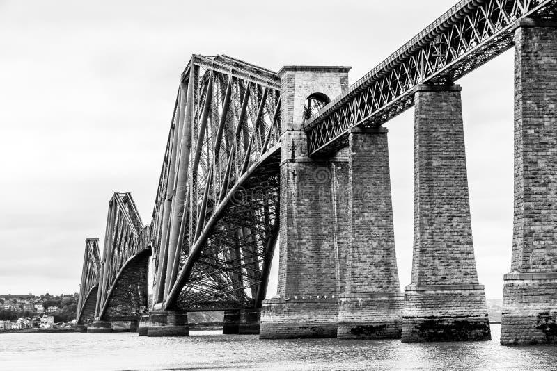 Naprzód Sztachetowy most nad Firth ujście w Szkocja Naprzód obraz stock