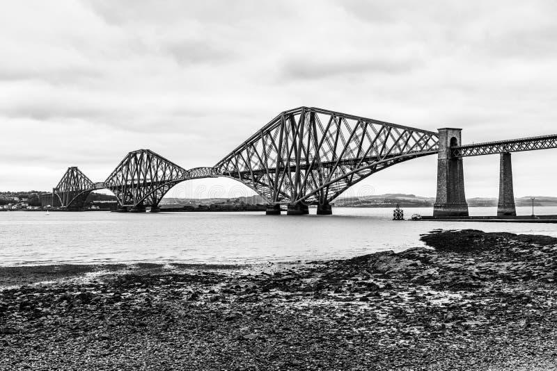 Naprzód Sztachetowy most nad Firth ujście w Szkocja Naprzód fotografia royalty free