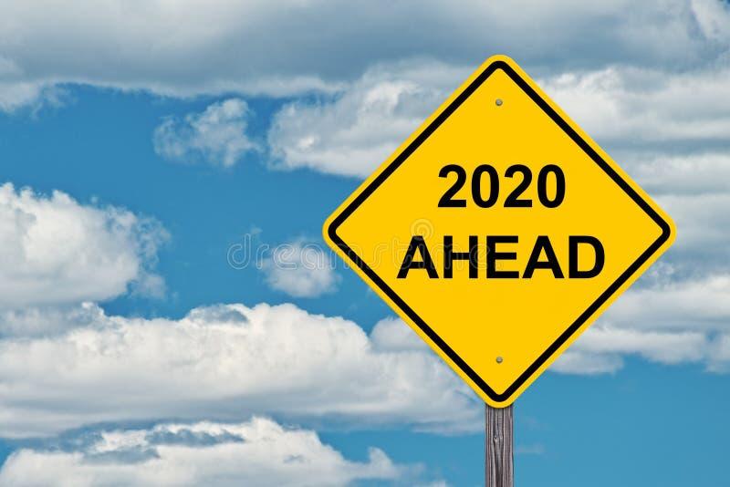2020 Naprzód znaków obrazy royalty free