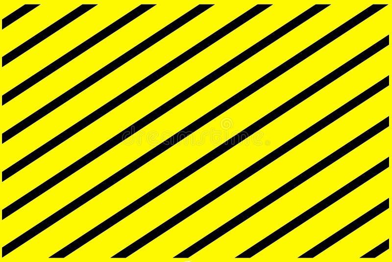 Naprzemianlegli koloru żółtego i czerni lampasy jako tło ilustracja wektor