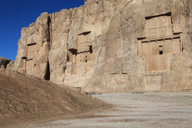 NAQSH-E ROSTAM - Tombe du Roi Daeiros et Xerxs image libre de droits