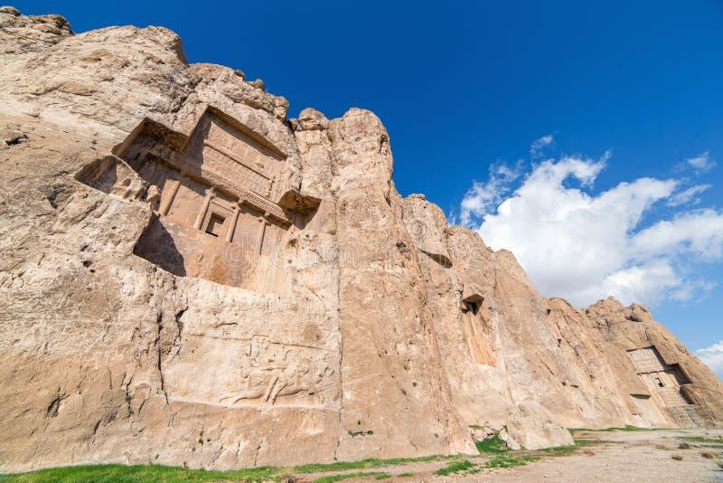 Naqsh-e Rustam,同水准省的一块古老大墓地 免版税图库摄影