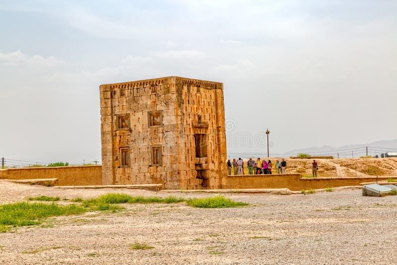 Naqsh-e Rustam Cube royaltyfri fotografi