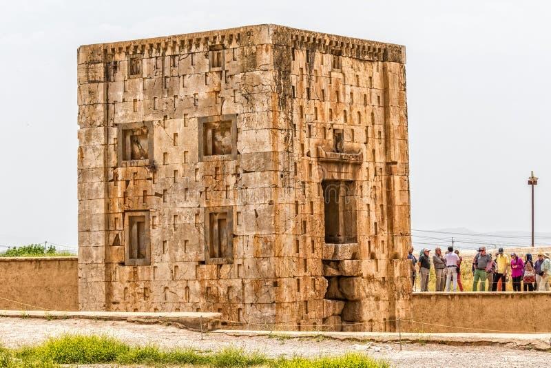 Naqsh-e Rustam Cube av Zoroaster arkivfoto