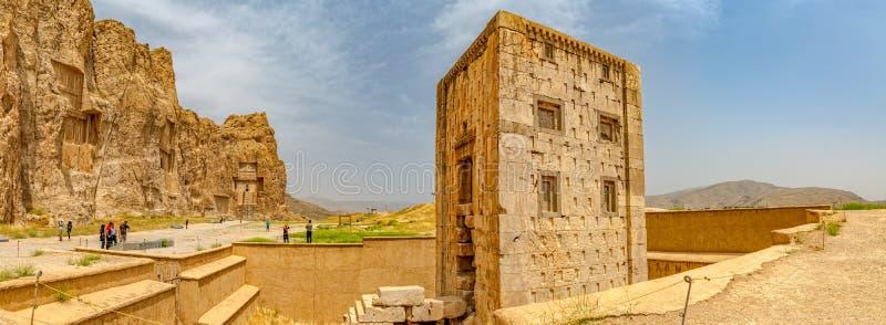 Naqsh-e Rustam Cube av Zoroaster royaltyfri fotografi