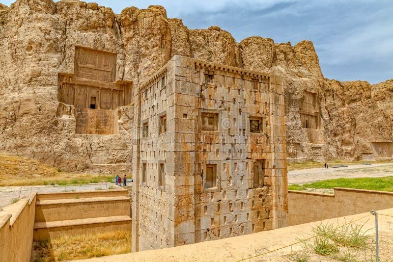 Naqsh-e Rustam Cube av Zoroaster royaltyfri bild