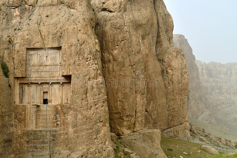 Naqsh-e Rustam, en forntida nekropol i Iran royaltyfri foto