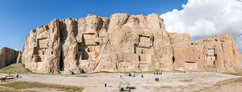 Naqsh-e Rustam, en forntida nekropol i medeltallandskapet, Iran royaltyfri foto