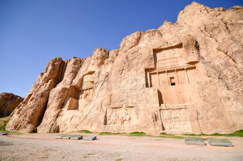 Naqsh-e Rustam, gravvalven av Achaemenidkonungar royaltyfri bild