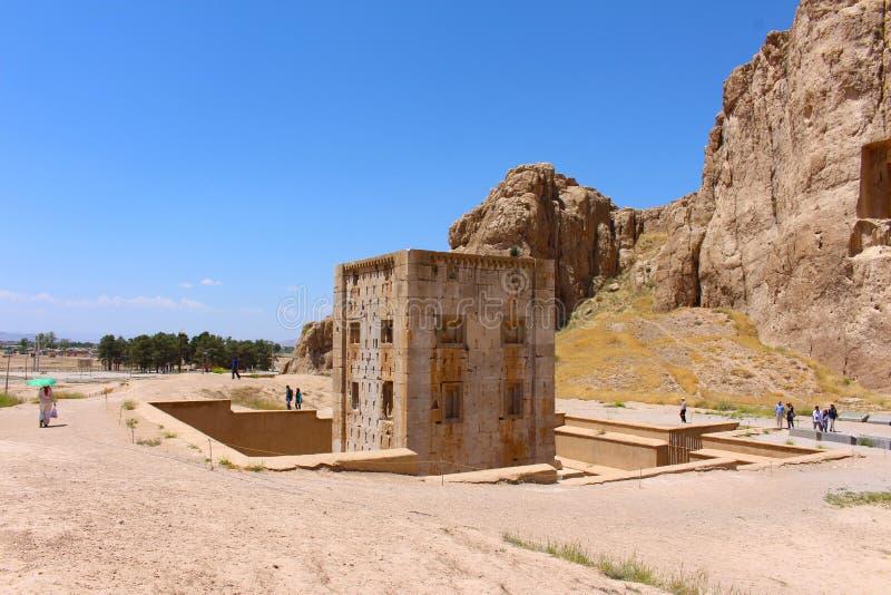 Naqsh-e Rustam, Iran Kub av Zoroaster royaltyfria bilder