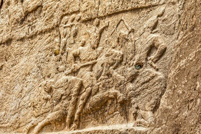 Naqsh-e Rustam lättnad royaltyfria bilder
