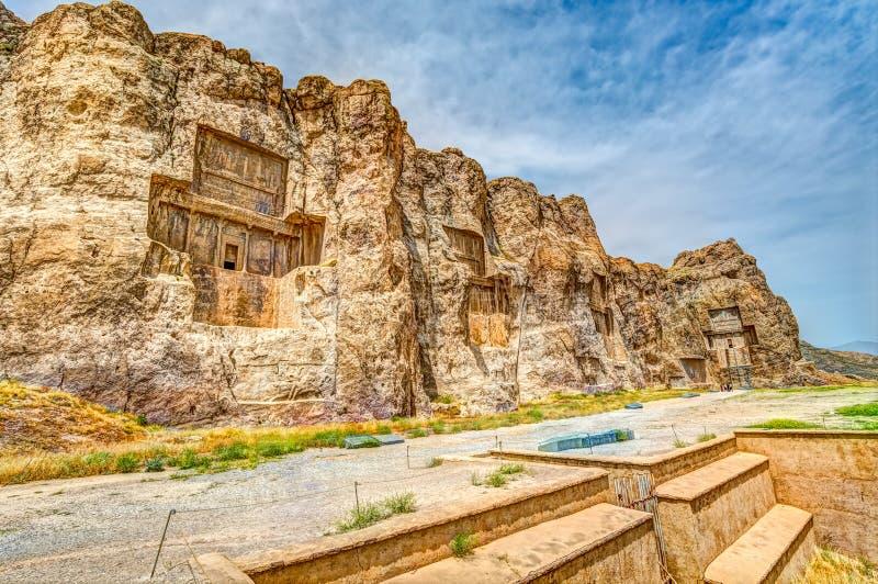 Naqsh-e Rustam Panorama arkivbilder