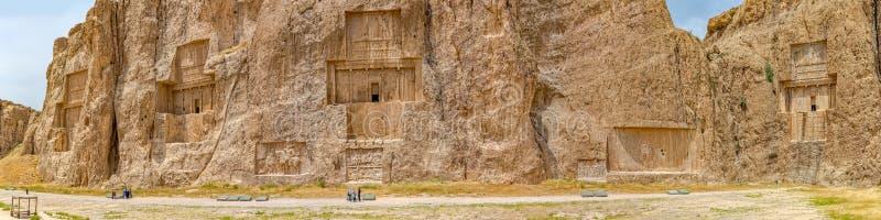 Naqsh-e Rustam Panorama arkivfoto