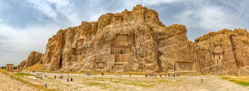 Naqsh-e Rustam Panorama royaltyfri bild