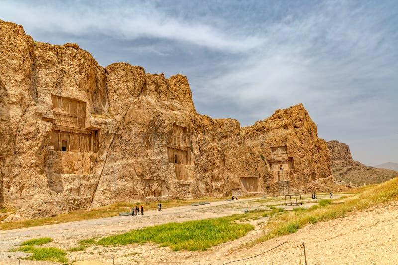 Naqsh-e Rustam Panoramic sikt royaltyfri bild