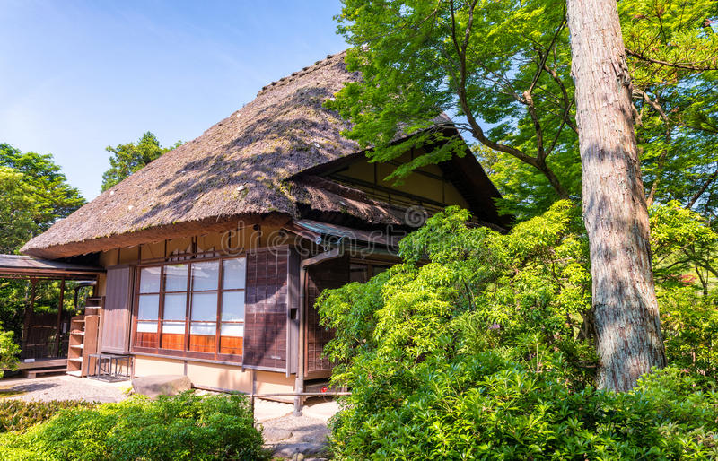 Nara, Giappone - giardino di Isuien Giardino di stile giapponese fotografia stock libera da diritti