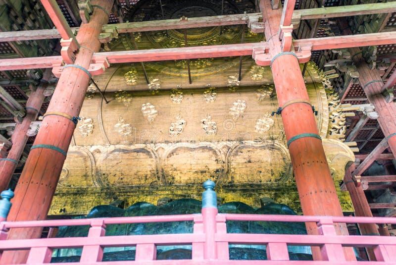 NARA, JAPAN - APRIL 2016: Innenraum von Todai-Jitempel Es ist ein B lizenzfreie stockbilder