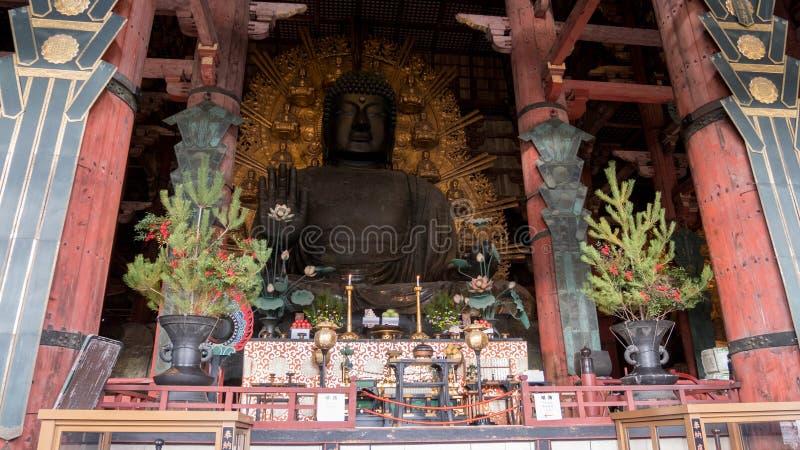 The great Buddha of Nara royalty free stock photo