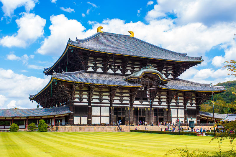 NARA, JAPON - 13 OCTOBRE 2015 : Grand Bouddha Hall chez le Todaiji photos stock