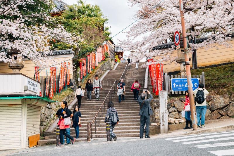 Nara park cherry blossom festival in Nara, Japan stock image