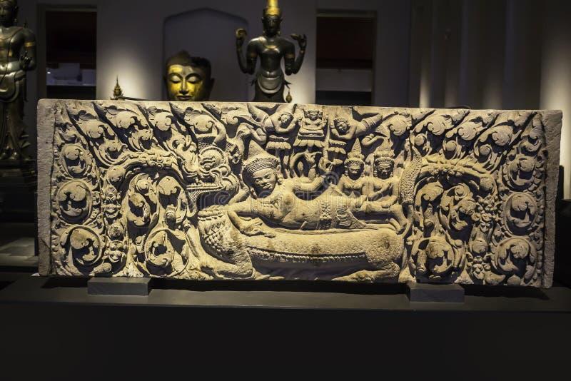 NARAI-ÖVERSTYCKE, skulptur arkivbild