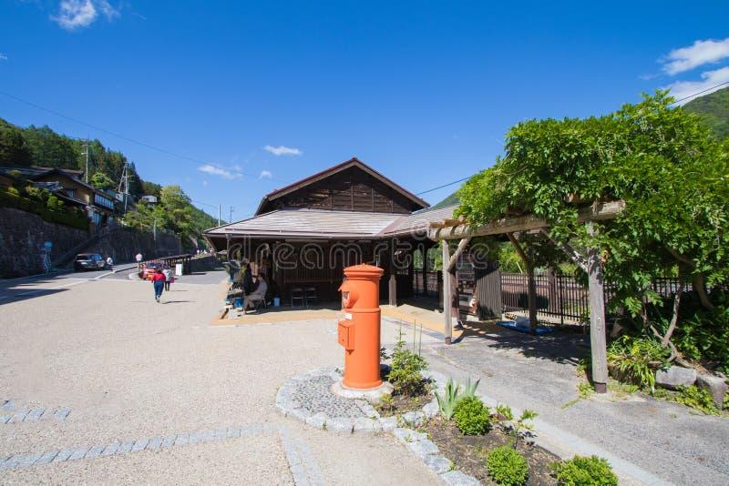 Narai is een kleine stad in de Prefectuur Japan, de oude stad van Nagano stock fotografie
