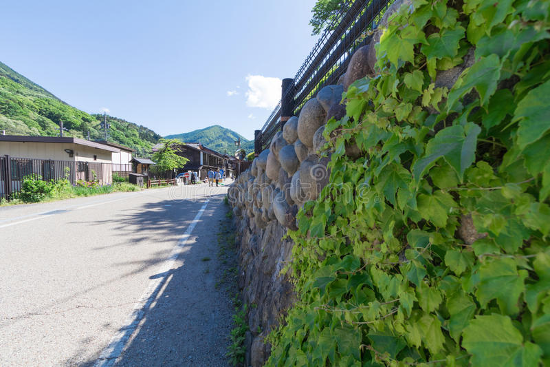 Narai is een kleine stad in de Prefectuur Japan, de oude stad van Nagano royalty-vrije stock foto