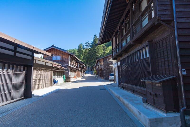 Narai is een kleine stad in de Prefectuur Japan van Nagano stock afbeeldingen