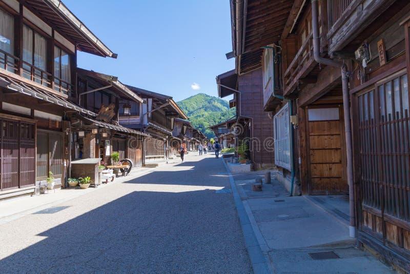 Narai is een kleine stad in de Prefectuur Japan van Nagano royalty-vrije stock foto