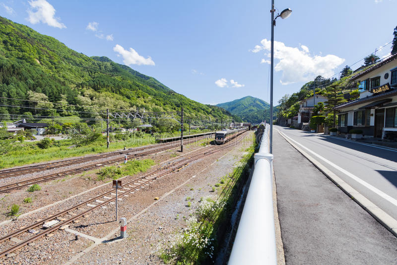 Narai is een kleine stad in de Prefectuur Japan van Nagano royalty-vrije stock afbeelding