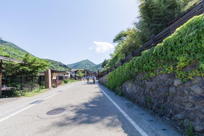 Narai is een kleine stad in de Prefectuur Japan van Nagano stock afbeelding