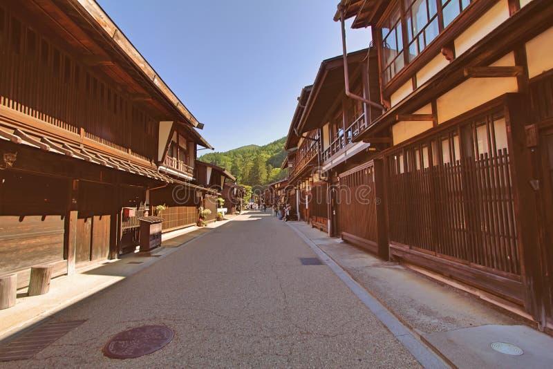 Narai est une petite ville en préfecture de Nagano Japon, la vieille ville photographie stock
