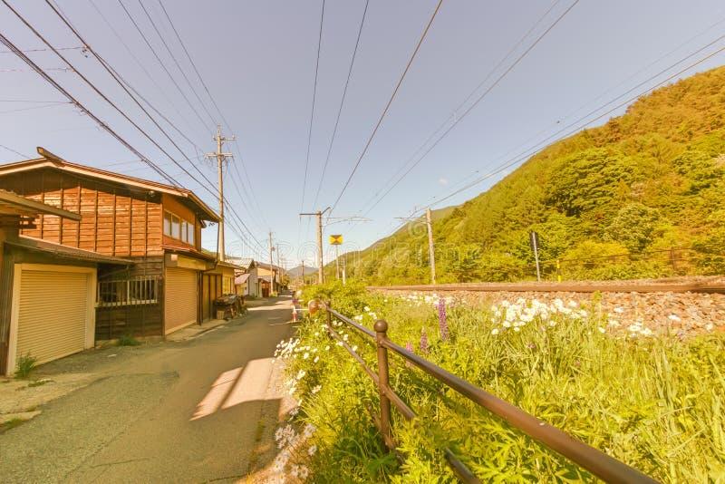 Narai est une petite ville en préfecture de Nagano Japon, le vieux remorquage images libres de droits