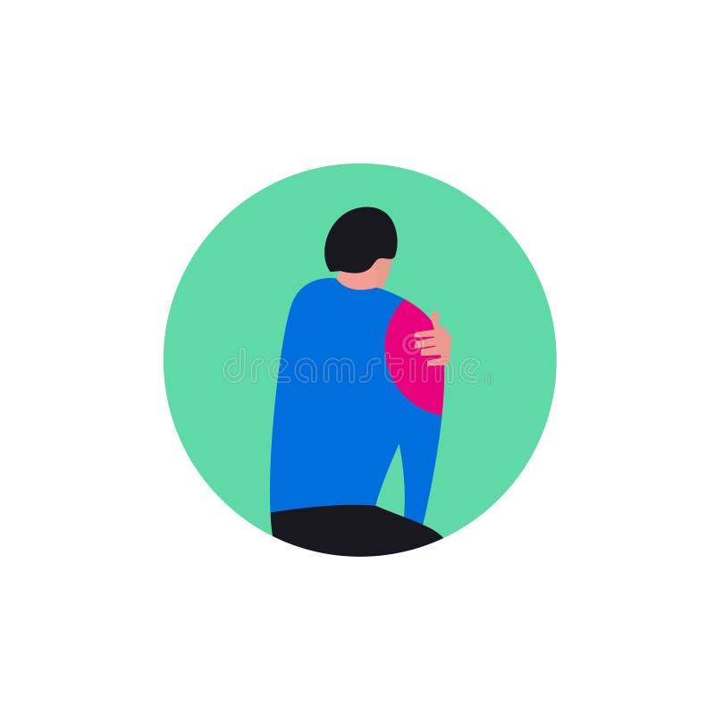 Naramienna osteoarthritis ikona royalty ilustracja