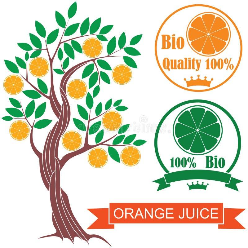 Naranja stock de ilustración