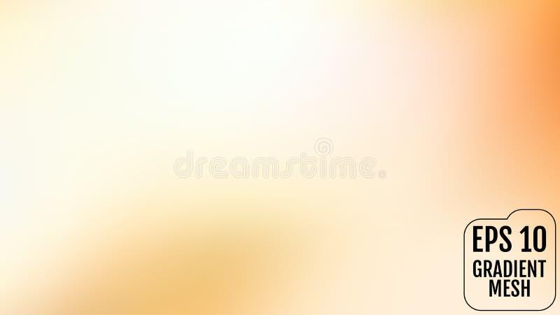 Naranja abstracta y fondo borroso oro de la pendiente con la luz Contexto del día de fiesta Ilustración del vector Concepto de la stock de ilustración
