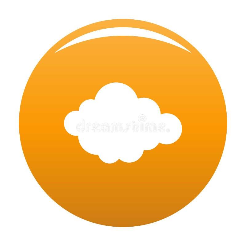 Naranja acodada alto del icono de la nube ilustración del vector