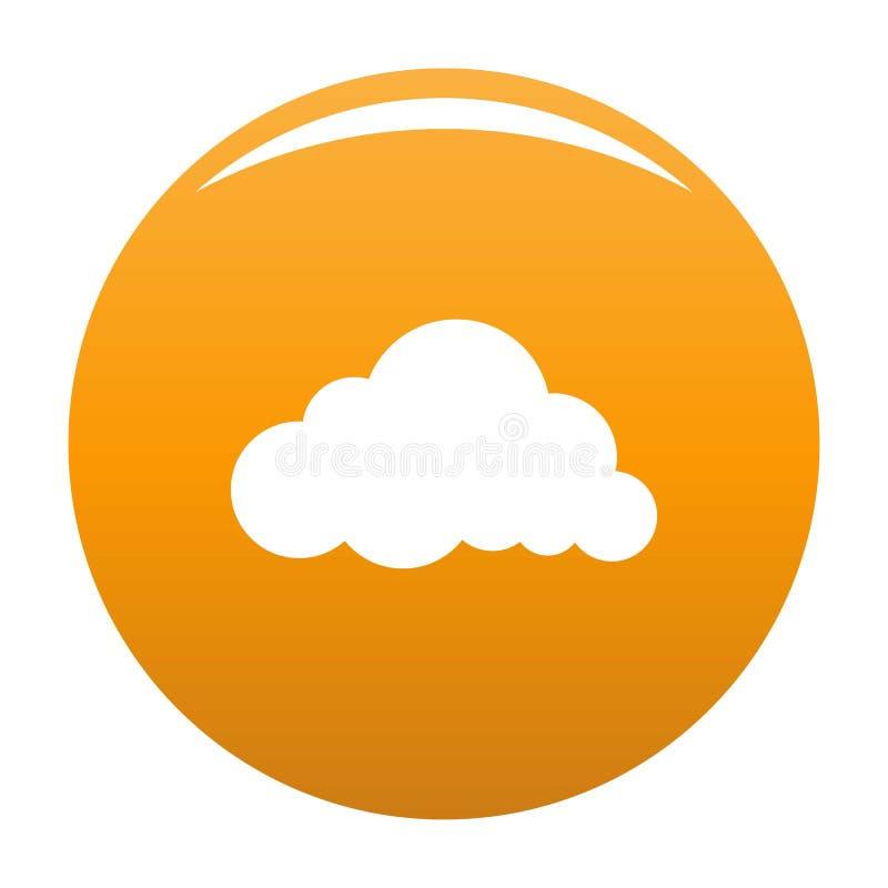 Naranja acodada del vector del icono de la nube de lluvia stock de ilustración