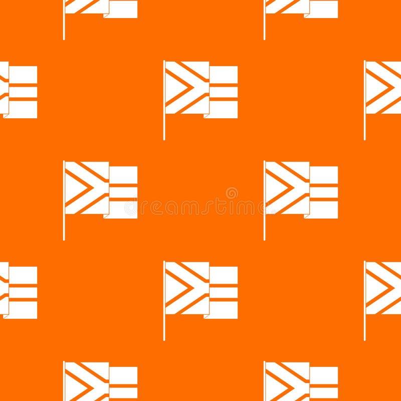 Naranja africana del vector del modelo de la bandera ilustración del vector
